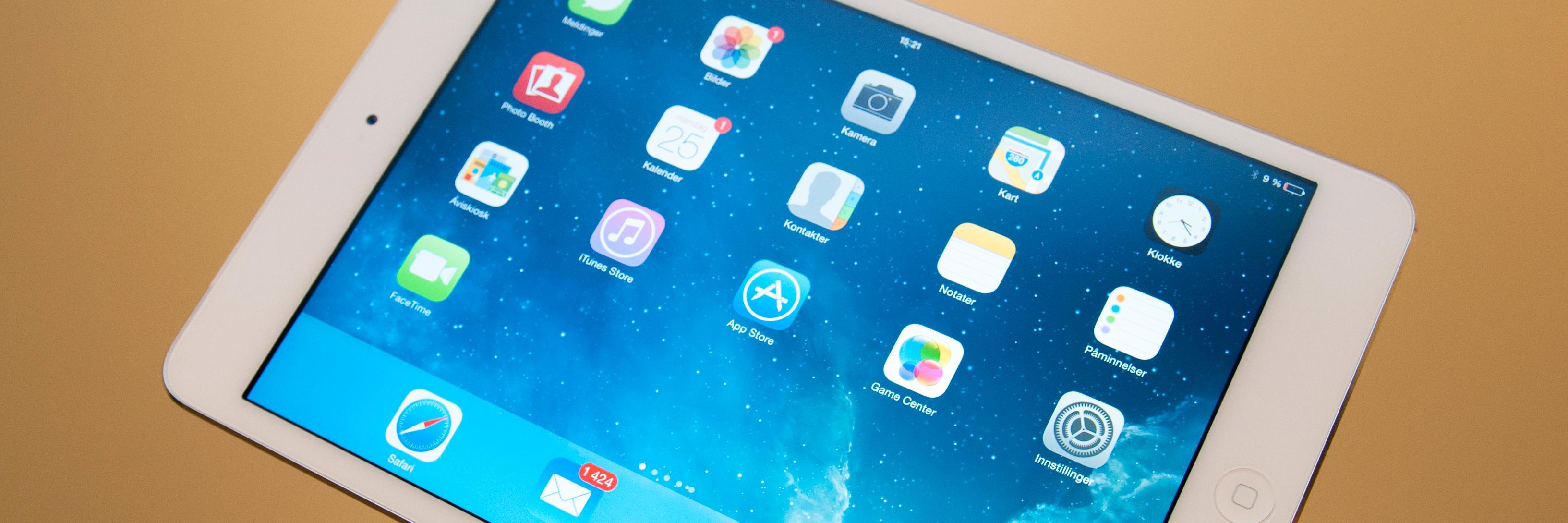 Apple overrasket med å lansere en iPad Mini som var like godt spesifisert som store iPad Air. Den gangen snakket de svært mye om valgfrihet. Får vi snart den samme valgfriheten på iPhone-fronten?Foto: Finn Jarle Kvalheim, Amobil.no