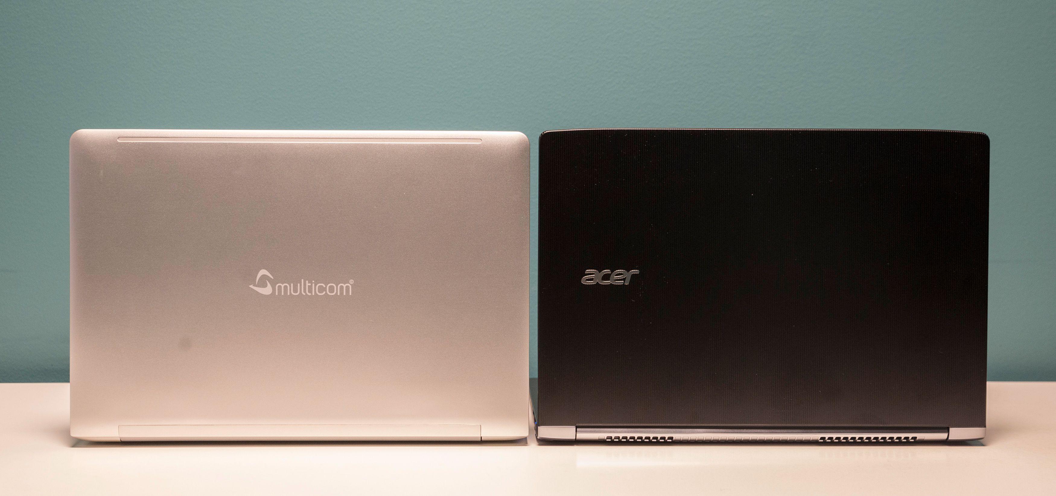 Vi liker det delvis aluminiumbaserte lokket til Talisa, men Acers plastlokket til Swift 5 er stiligere og neppe mindre solid.
