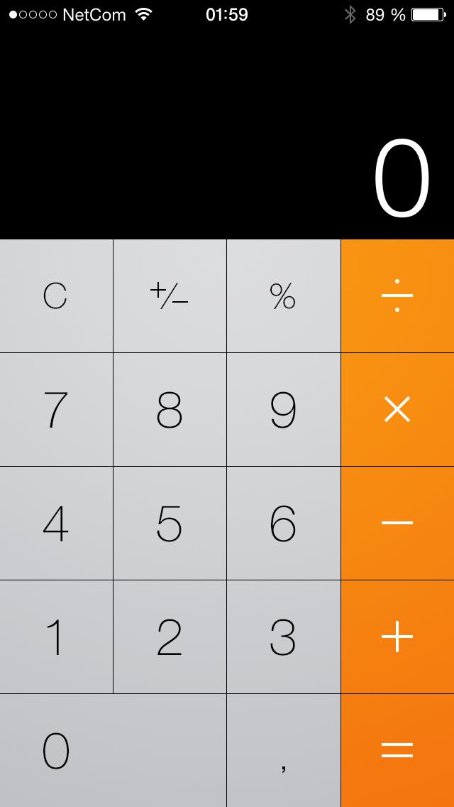 Kalkulatoren har fått litt endret design. Knappene henger litt