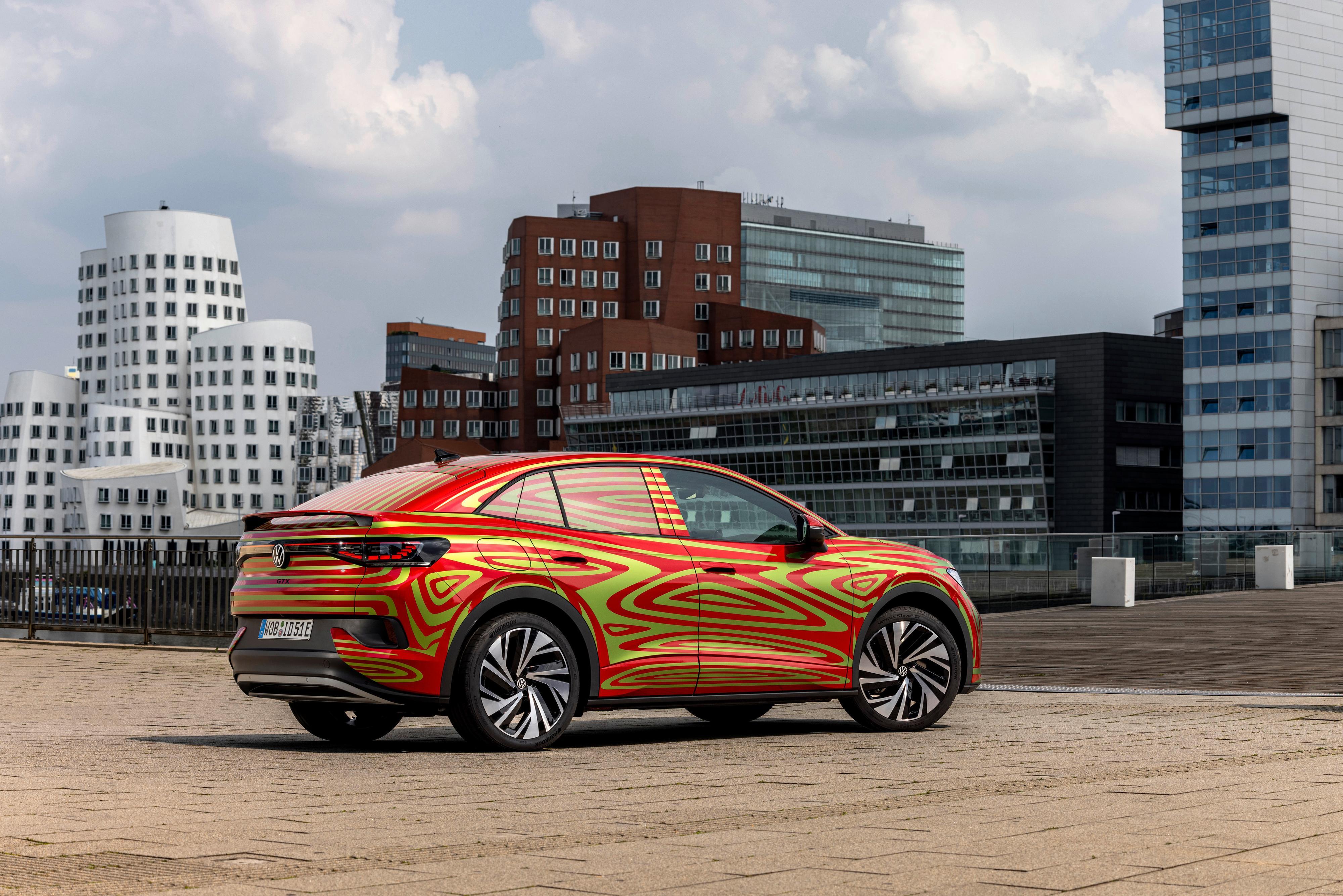 Foreløpig har vi kun sett Volkswagens ID.5 på denne måten, og slik vil den også bli vist frem på bilmessen i München i september.