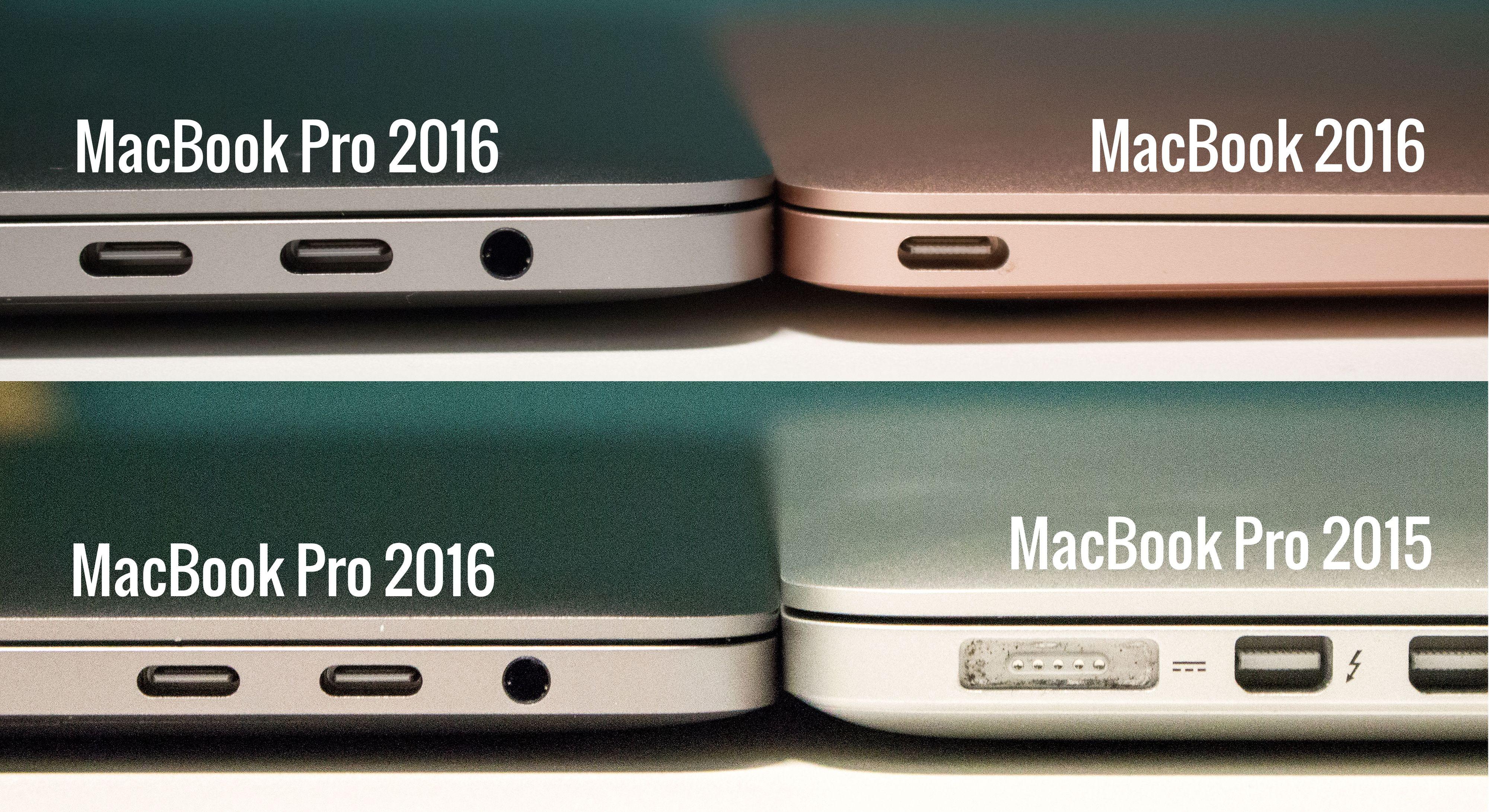 MacBook er enda litt slankere, men det hersker ingen tvil om at også nye MacBook Pro har blitt mer kompakt i forhold til MacBook Pro fra 2015.