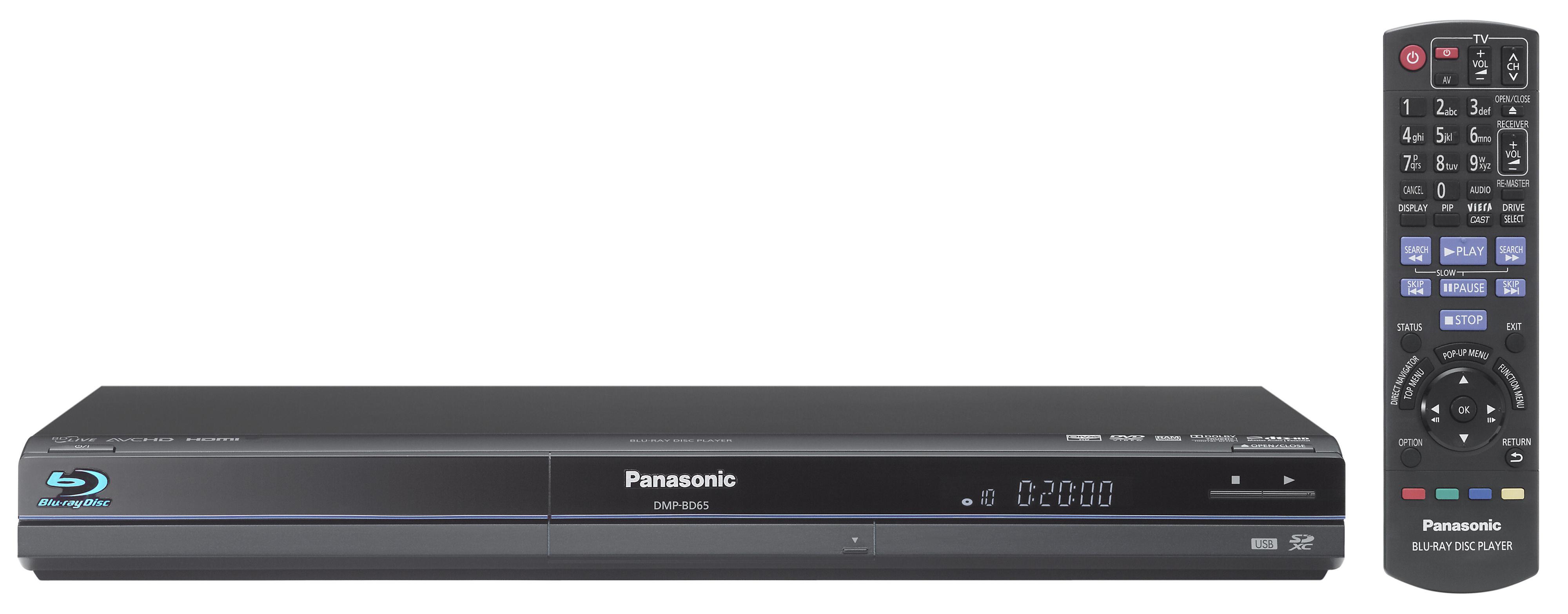 Panasonic BDP-BD65: Nesten identisk med storebror BD85 (Klikk for større bilde)