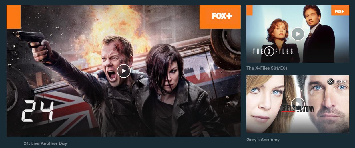 Dette er bare noen av TV-seriene du vil finne i Canal Digitals strømmeportal. Flere skal det bli i løpet av året.