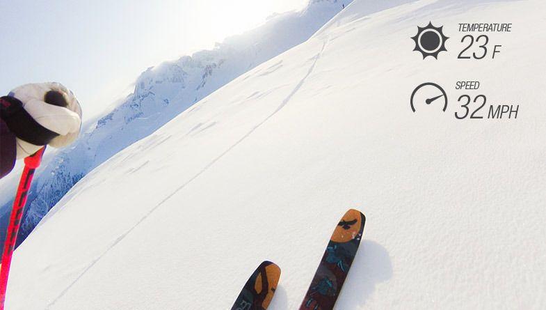 Når du går skikkelig på trynet i skibakken kan det jo være greit å ha noe å skylde på; temperaturen, for eksempel. Foto: Garmin