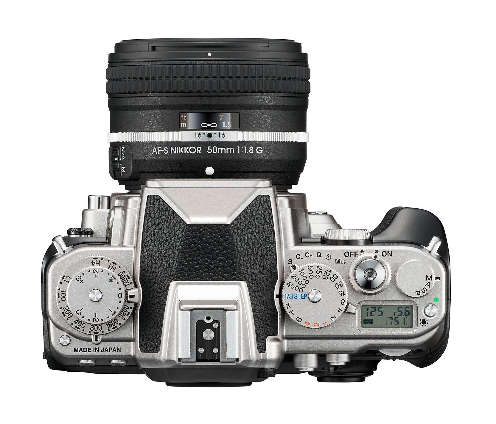 Nikon Dfs topplate.Foto: Nikon