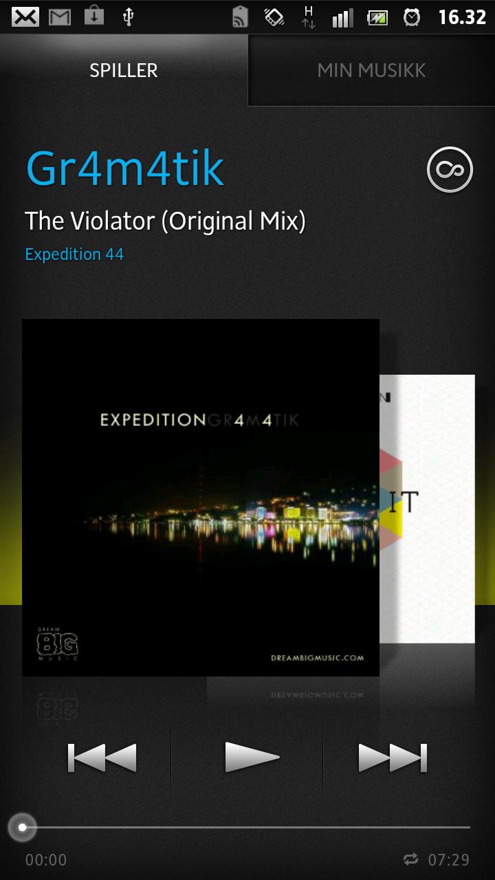 Musikkspilleren i Xperia S er svært kapabel. Full equalizer og masse ekstra informasjon om musikken er tilgjengelig.