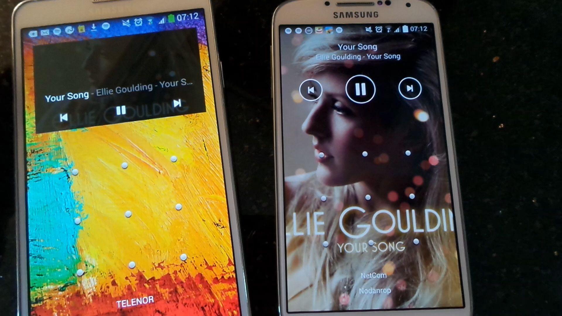 Min datter fikk seg en overraskelse når musikken jeg skulle spille kom strømmende ut av hennes mobiltelefon. Vi befant oss ikke en gang i samme by.Foto: Espen Irwing Swang