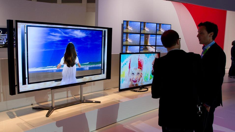 Stor skjerm med høy oppløsning.Foto: Rolf B. Wegner, Hardware.no