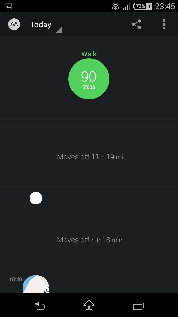Moves tar i bruk den smarte skrittelleren i Android OS 4.4.