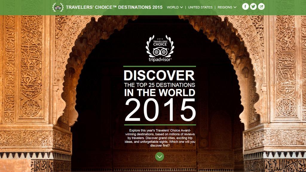 TripAdvisor har kåret verdens beste reisemål