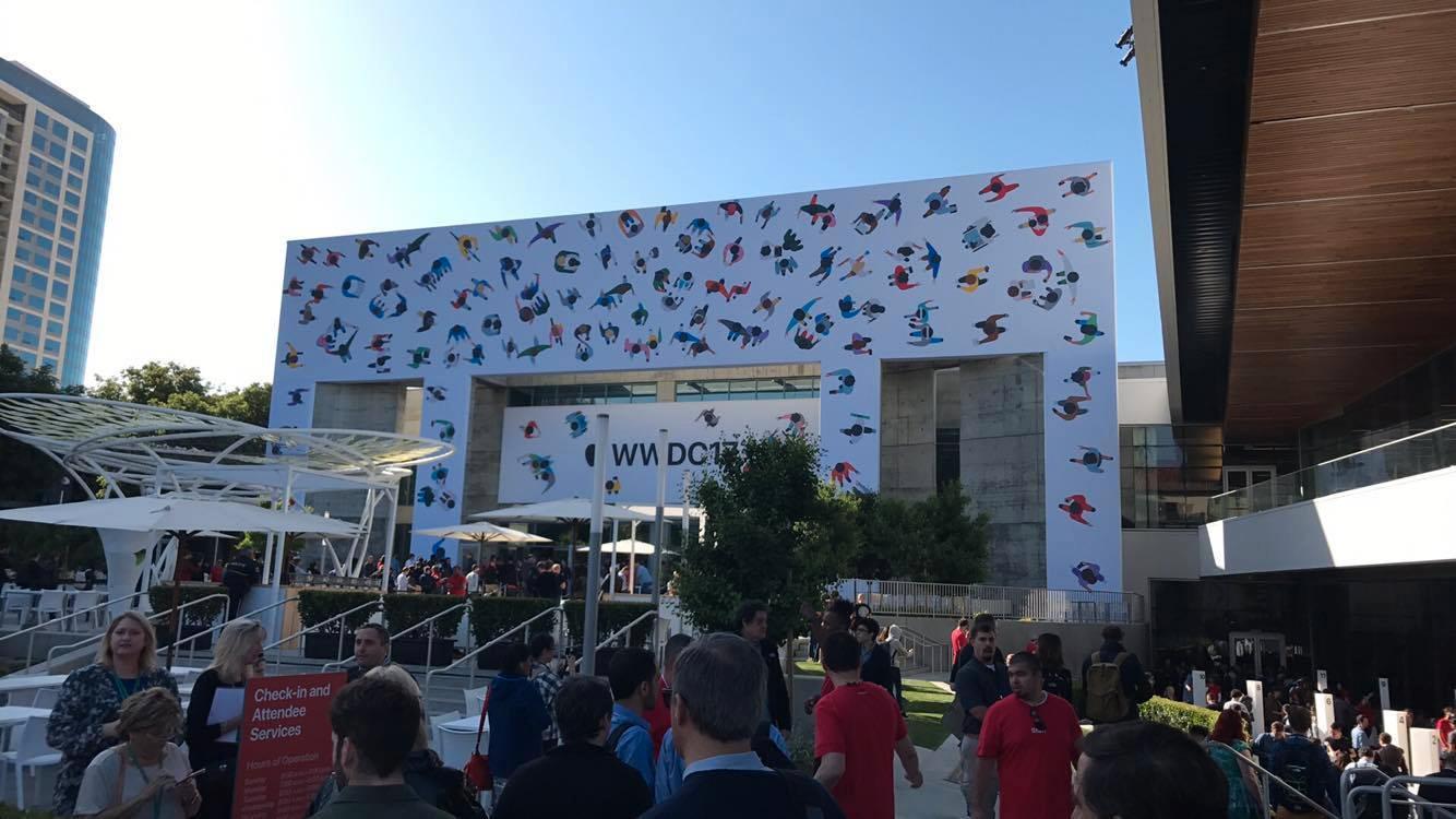Her er konferansehallen hvor lanseringen finner sted.
