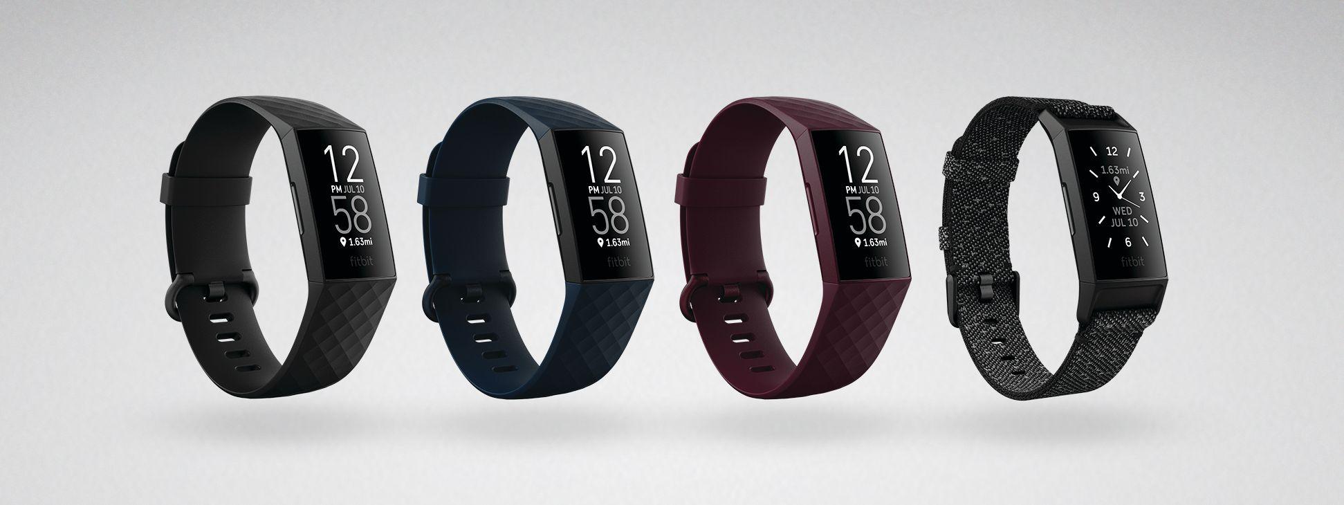Fitbit Charge 4 kommer i flere ulike farger.