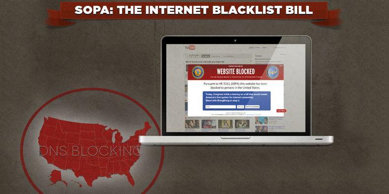 SOPA setter effektivt opp en kraftig brannmur rundt USA – men strekker seg også utenfor landegrensene.