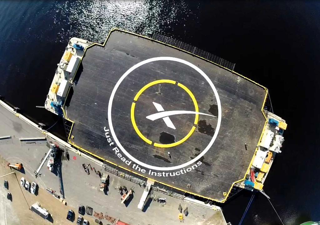 Droneskipet som raketten skal lande på har fått nytt navn siden sist. Foto: SpaceX