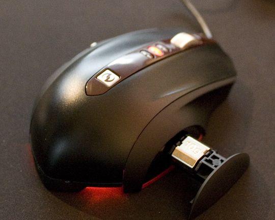 SideWinder Mouse med vektbrettet ute