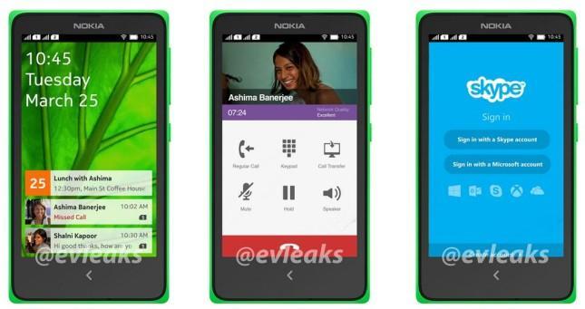 Nokia Normandy slilk Evleaks hevder den ser ut.Foto: @evleaks