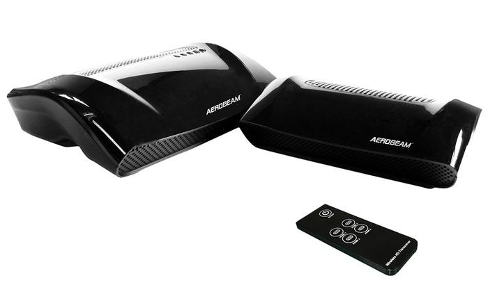 Zyxel AeroBeam WHD6215 består av to bokser som knyttes sammen med WirelessHD-standarden.Foto: Zyxel