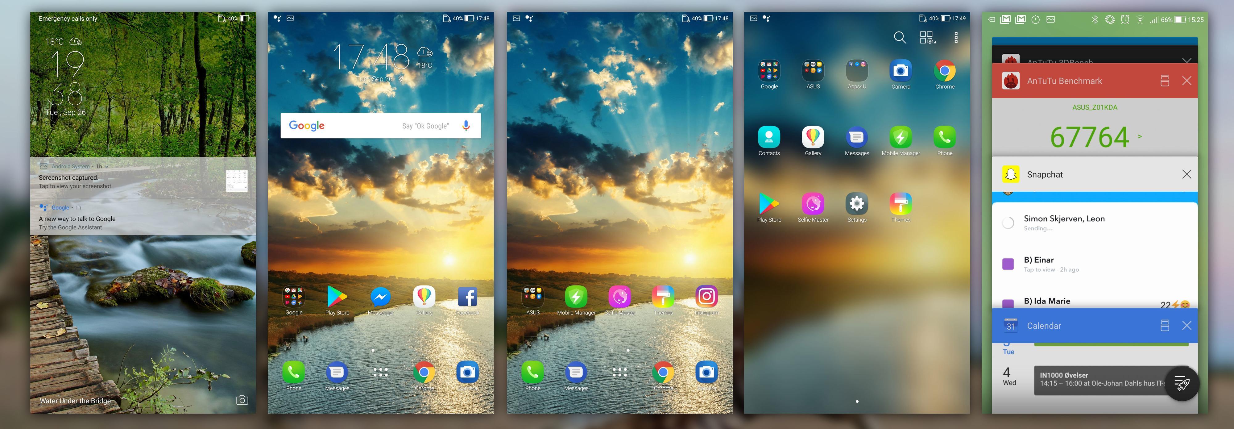 Grensesnittet ligger LANGT vekk fra standard Android.