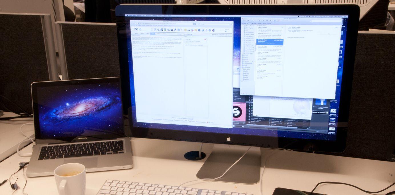 Farvel, Apple Thunderbolt Display.
