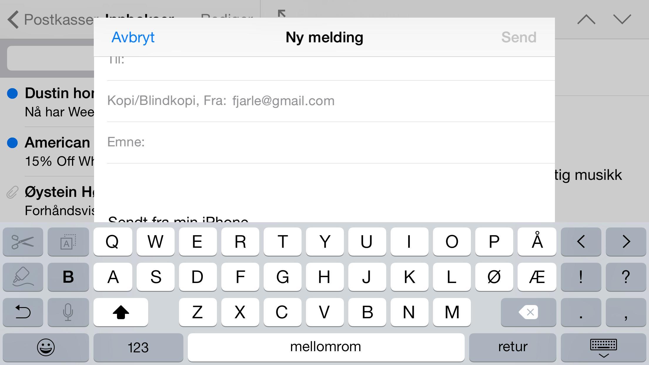 Et utvidet tastatur med klipp- og limfunksjoner har det også blitt plass til.Foto: Finn Jarle Kvalheim, Amobil.no