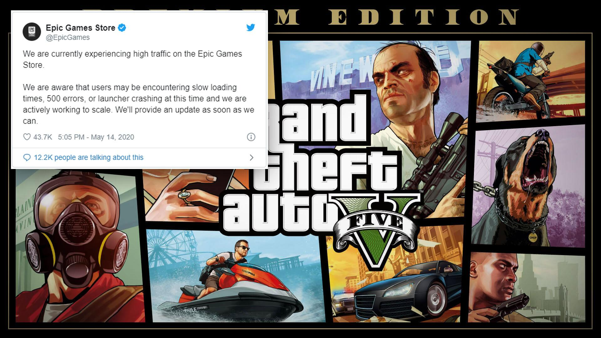 Epic Store knelte under presset fra GTA V