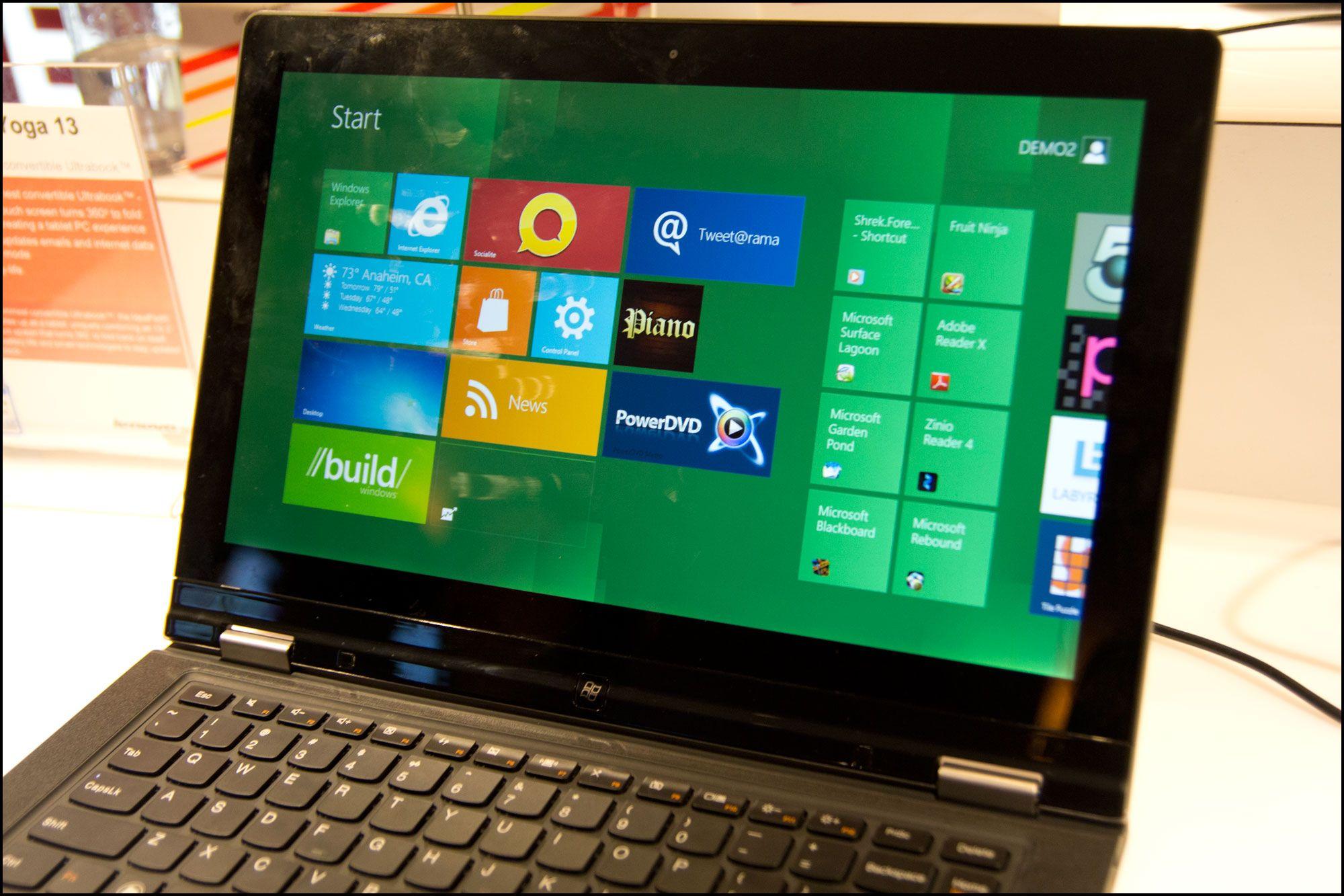 Yoga kommer med Windows 8