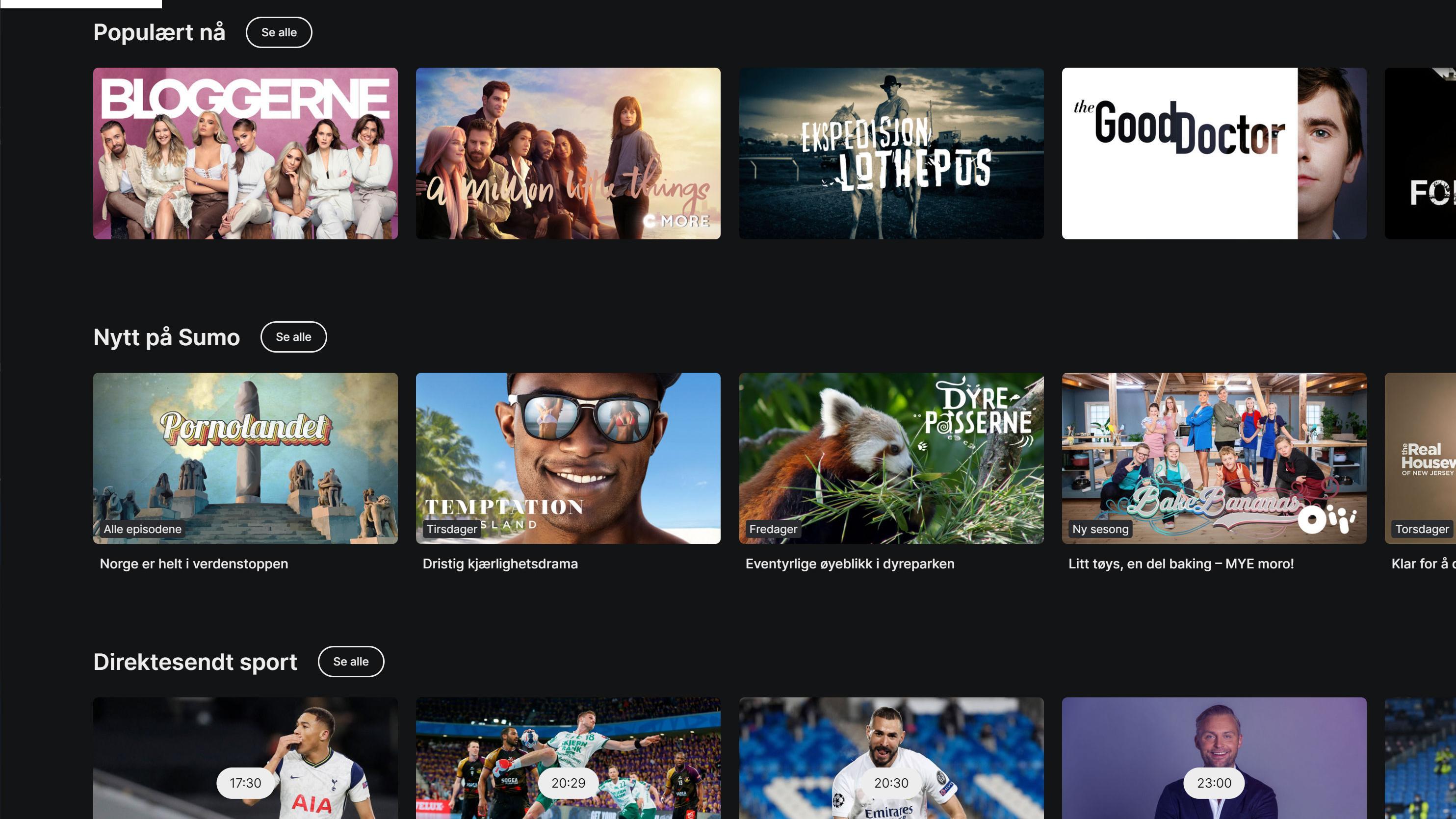TV 2 Sumo kutter PlayStation-støtte