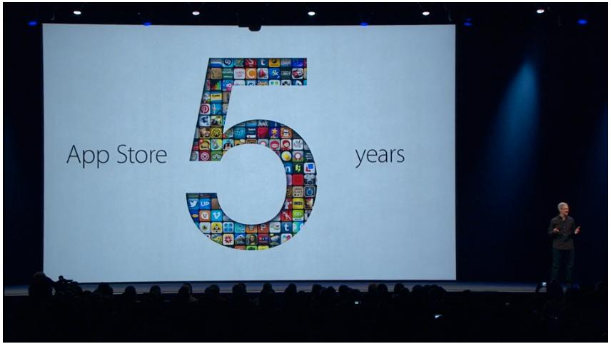 Neste måned er App Store 5 år.Foto: Apple