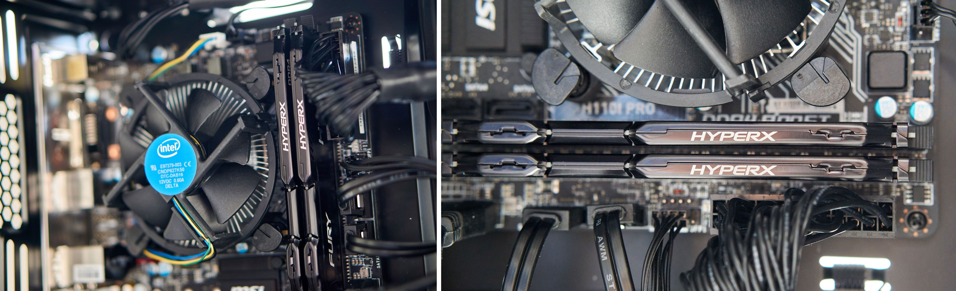 En Intel Core i5-6600 i tospann med 16 GB DDR4-minne fra HyperX driver maskinen.
