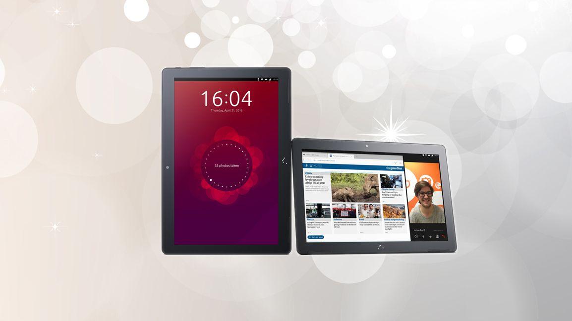 Jepp, det du ser er Ubuntu på et nettbrett
