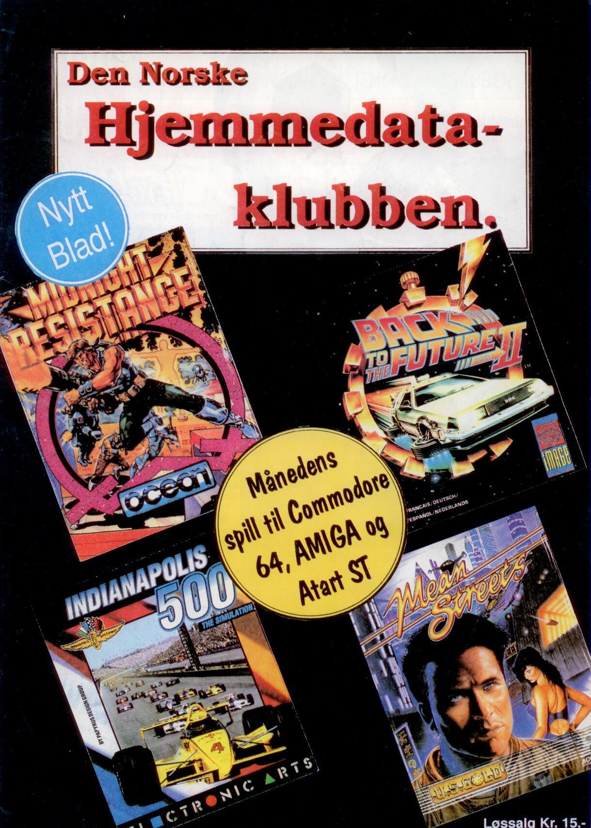 Forsiden fra Den Norske Hjemmedataklubben, nr. 1 1991.Foto: Data-Tronic