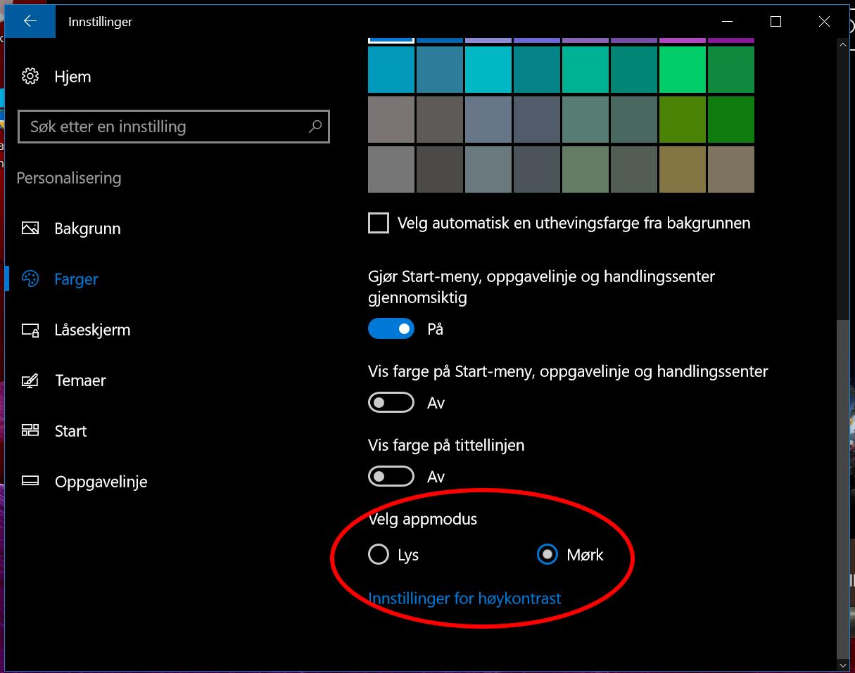 Slik aktiverer du Dark Mode i Windows 10 Anniversary Update.