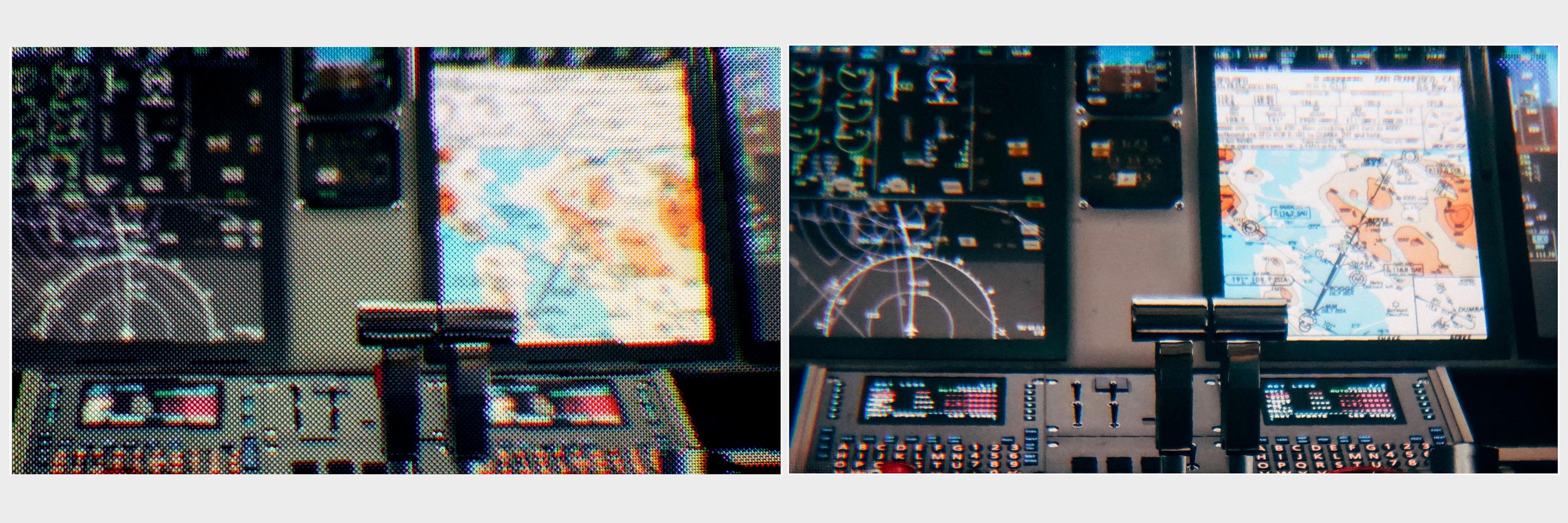 Dette bildet skal illustrere forskjellen mellom Oculus Rift-skjermen (t.v.) og den nye skjermen til Varjo.