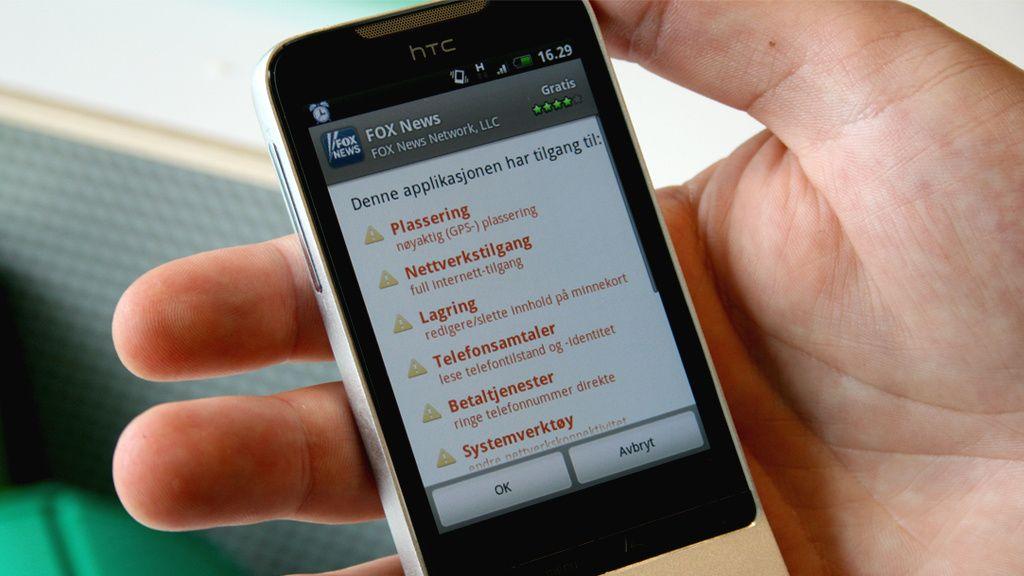Pass på hva du gir applikasjonen tilgang til før du laster den ned.