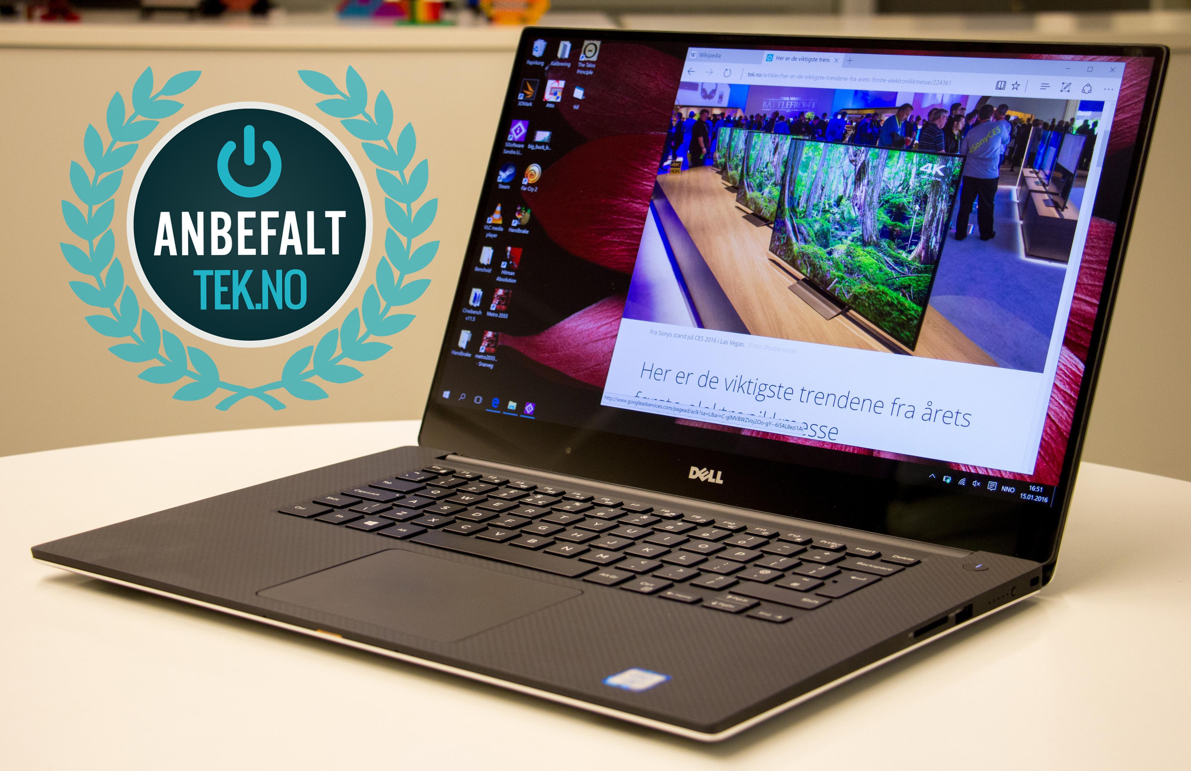 Dell XPS 15 får med seg en anbefaling av oss.