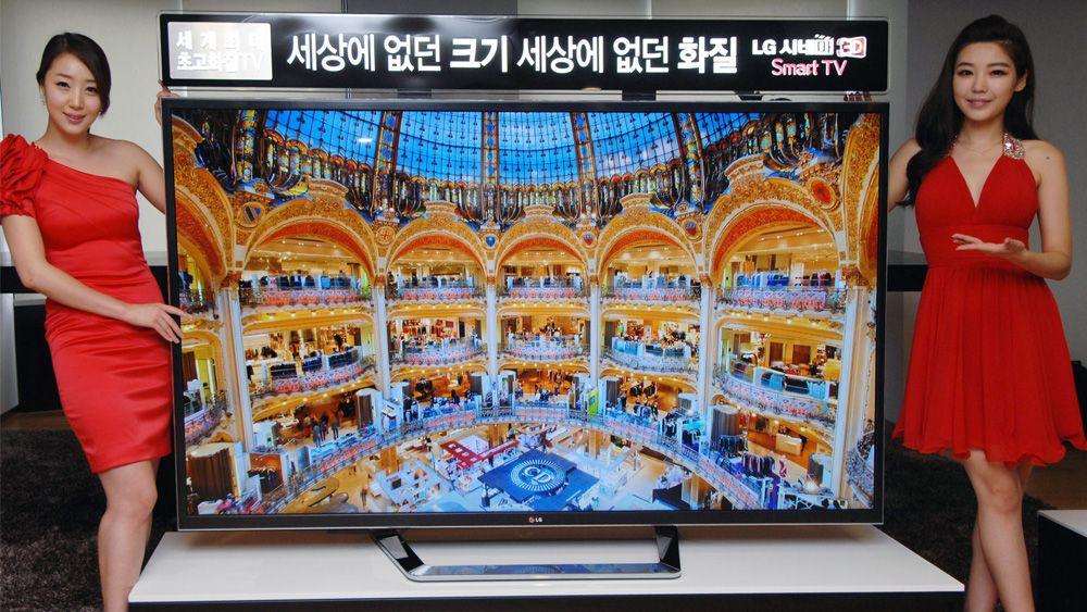 LG vil gjerne lansere denne 84 tommer store 4KTV-en i Europa. Vi takker ikke nei.Foto: LG