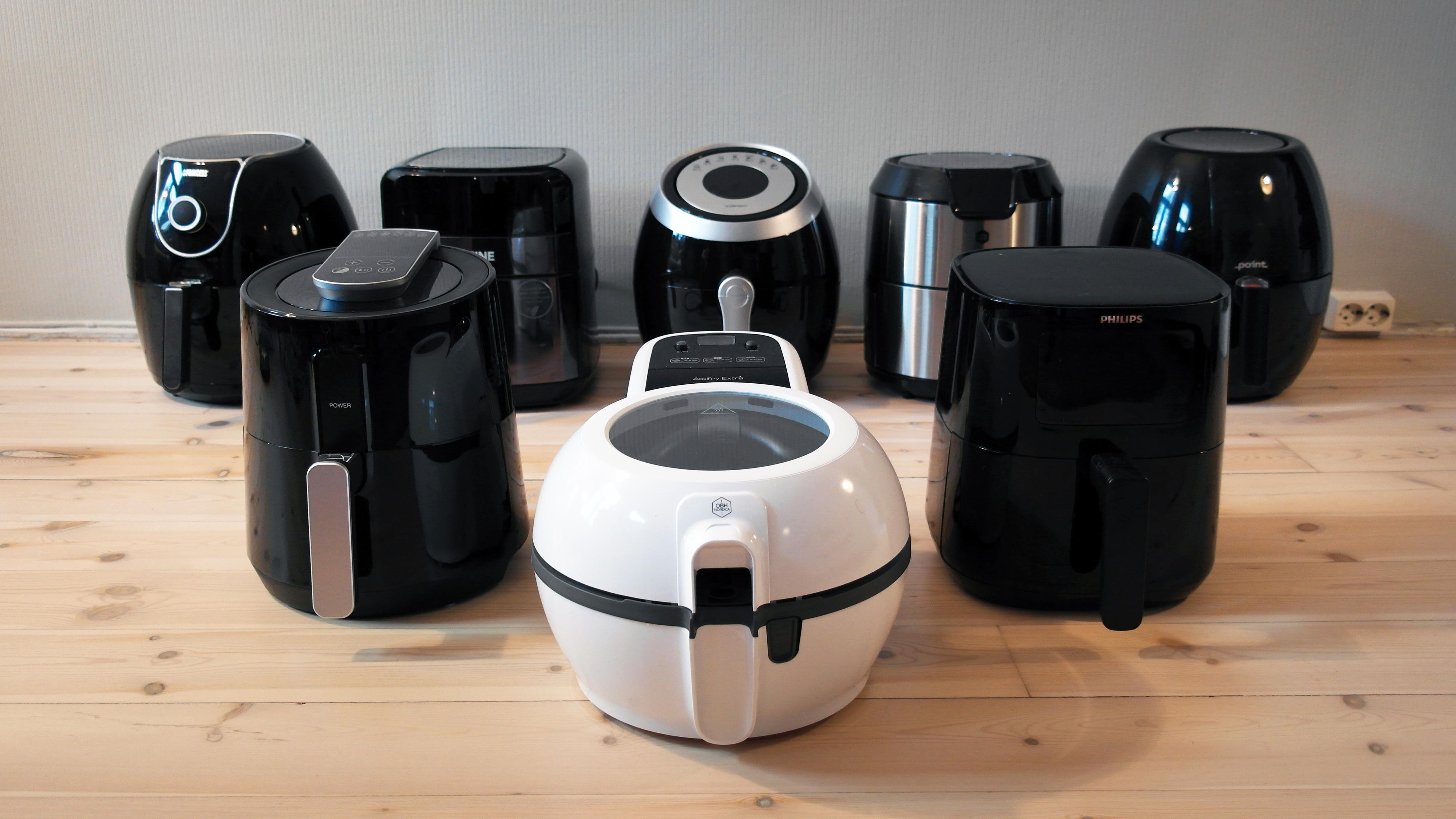 En airfryer lager fritert mat med mye mindre olje enn en vanlig frityrgryte. Vi har testet åtte rimelige modeller.