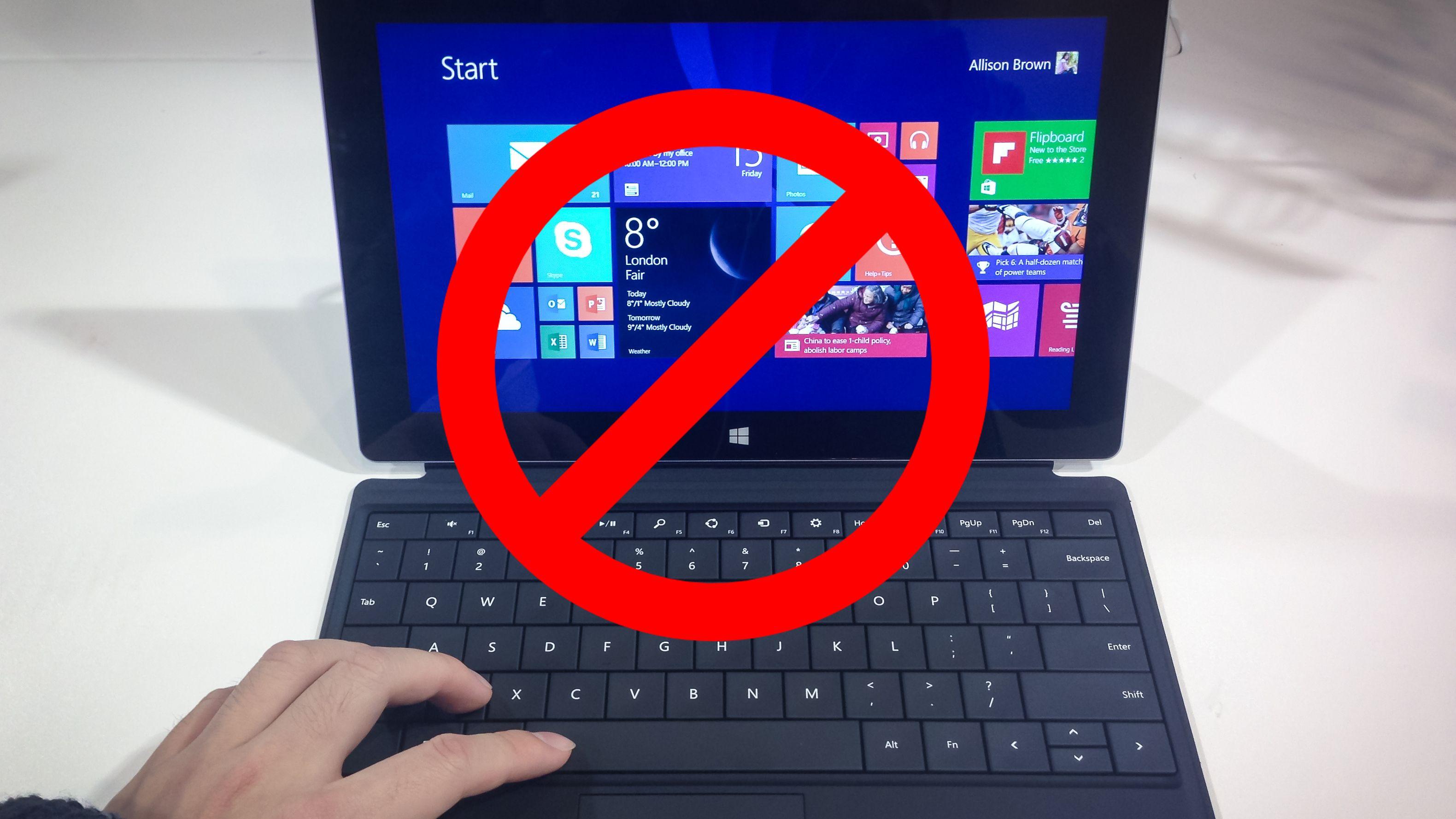 Bannlyser Windows 8 fra statens egne PC-er