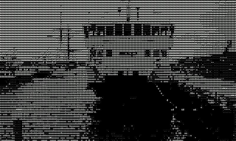 Live ASCII-art, moro eller tøys?