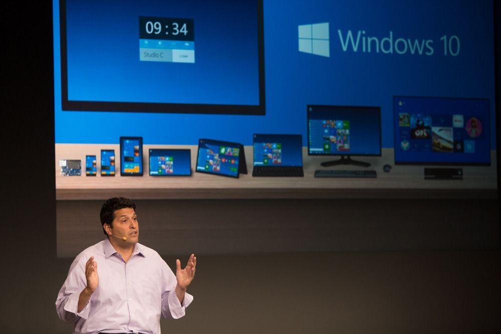 «Alle» enheter skal kjøre Windows 10.Foto: Microsoft