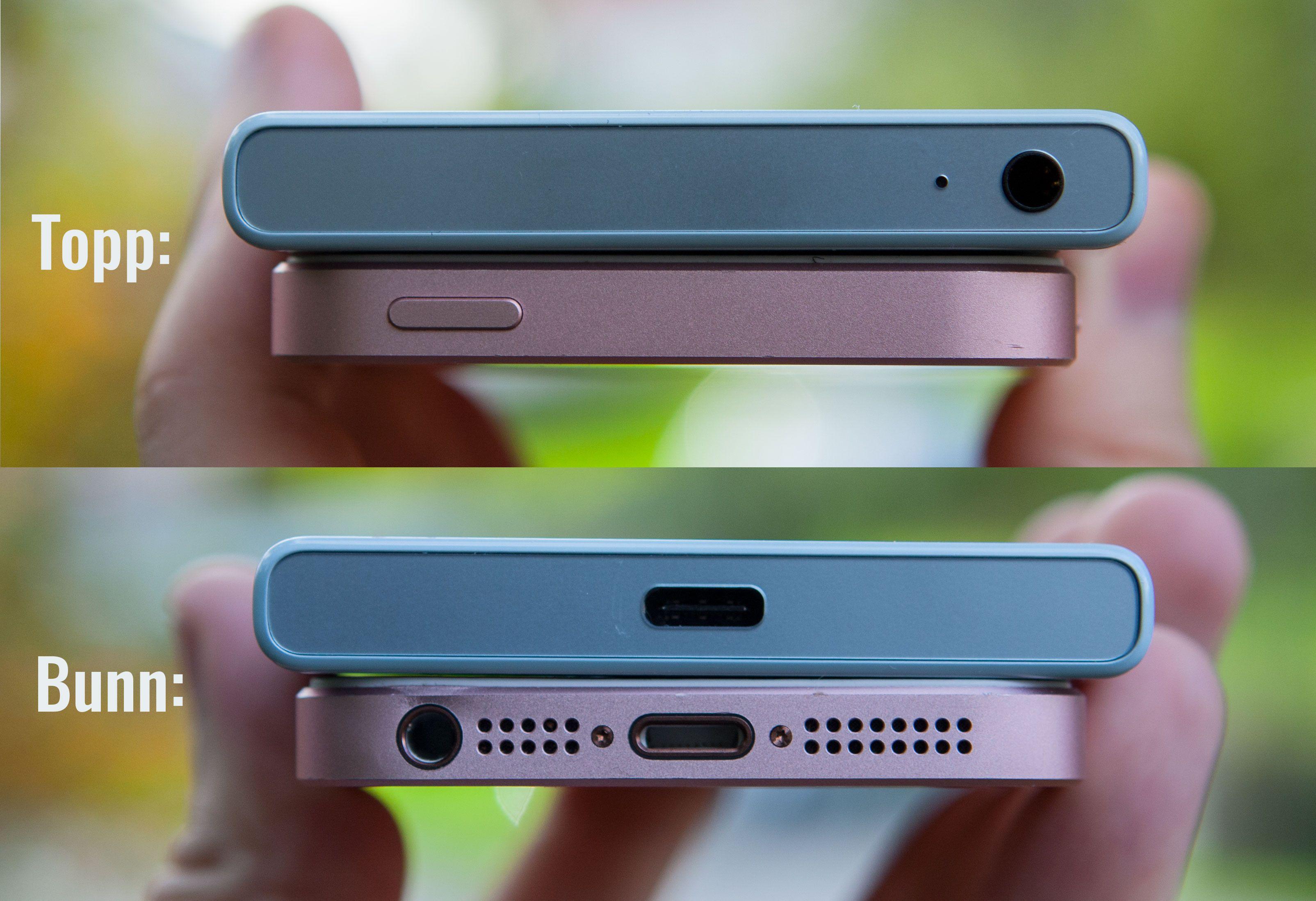Xperia X Compact er litt lubben, men det synes vi ikke gjør så mye. Den ligger godt i hånda.