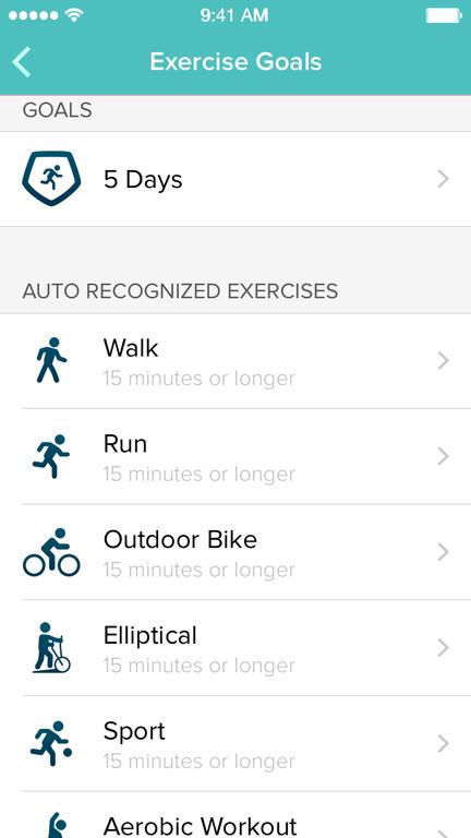 SmartTrack kan gjenkjenne flere ulike aktiviteter automatisk. Foto: Fitbit