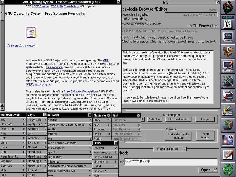 WorldWideWeb-browseren var både et redigeringsverktøy og en nettleser.