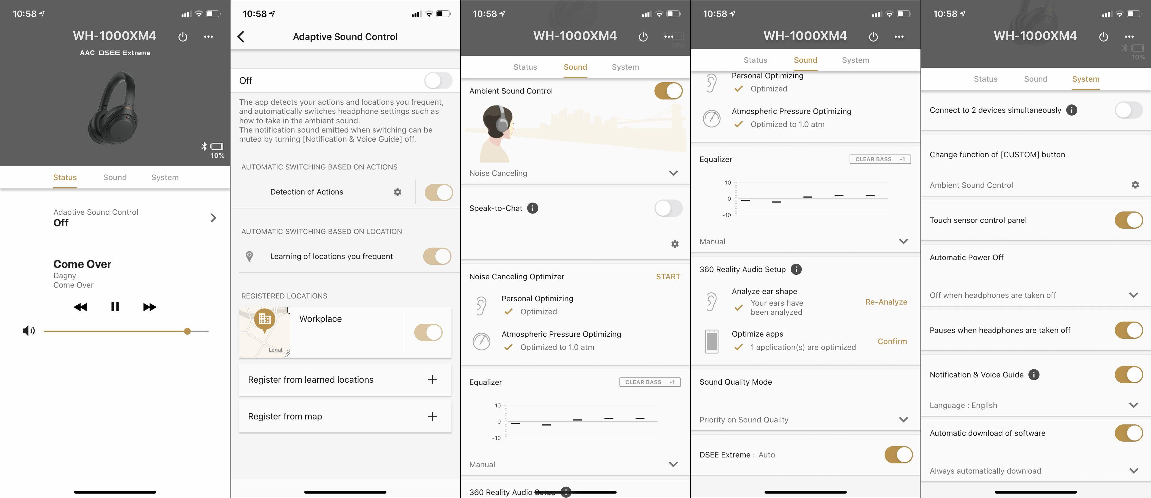 Sonys Headphones-app er oppdatert, og Sony har endelig skjønt at det å gi brukeren valgfrihet er en god ting. Fortsatt kunne vi gjerne ønsket oss flere muligheter for Custom-knappen, som i praksis bare har to valg.