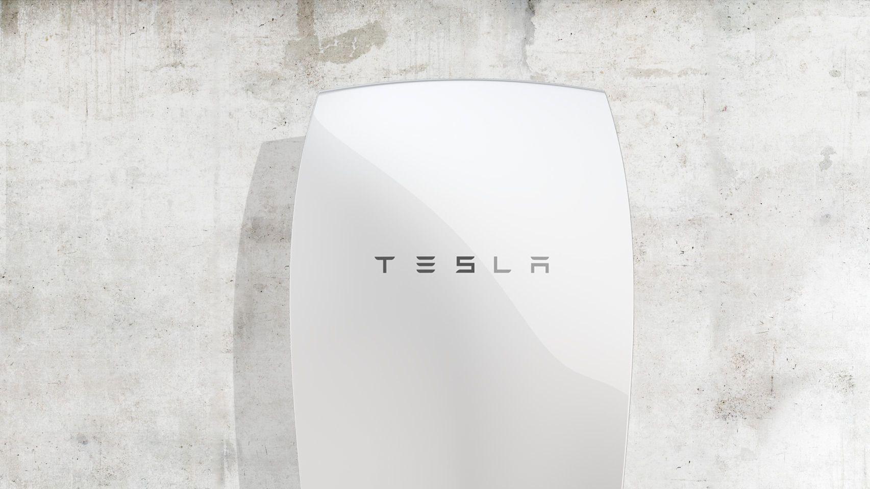 Daimler-batteriet blir en direkte konkurrent til Teslas Powerwall-batteri, her avbildet. Foto: Tesla Energy
