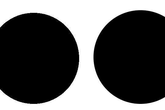 Ingen AA til venstre, med AA til høyre.