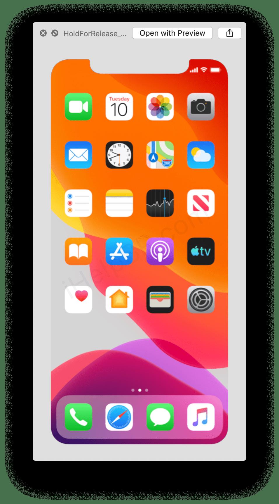 Kalenderikonet i denne filen fra nye iOS 13 viser tydelig tirsdag 10. I fjor viste en liknende fil onsdag 12., og Apple lanserte iPhonene sine på nettopp 12. september.