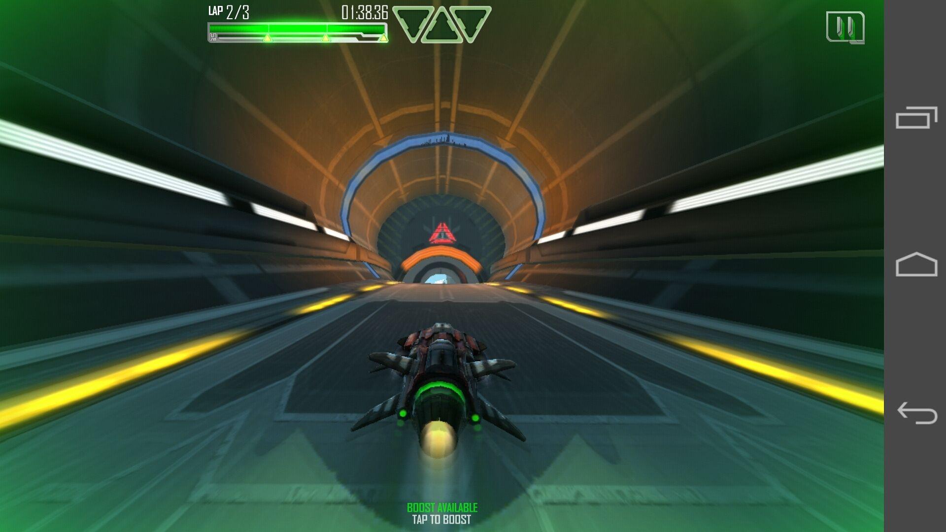 Ascend P7 har ingen problemer med spillene vi har testet. På enkelte spill kommer menytastene med, som her. I andre blir de skjult så du kan spille over hele skjermen.Foto: Espen Irwing Swang, Amobil.no