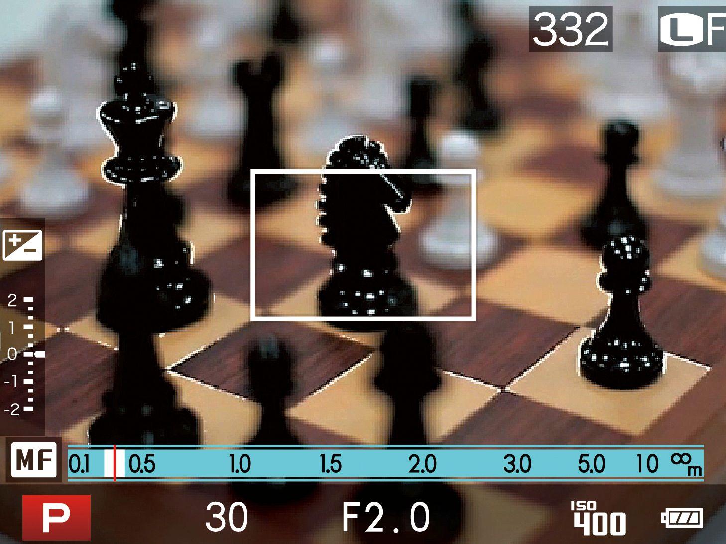 Focus peaking, her demonstrert i Fujifilm X20. Det hvite omrisset viser hvor fokus er.Foto: Fujifilm