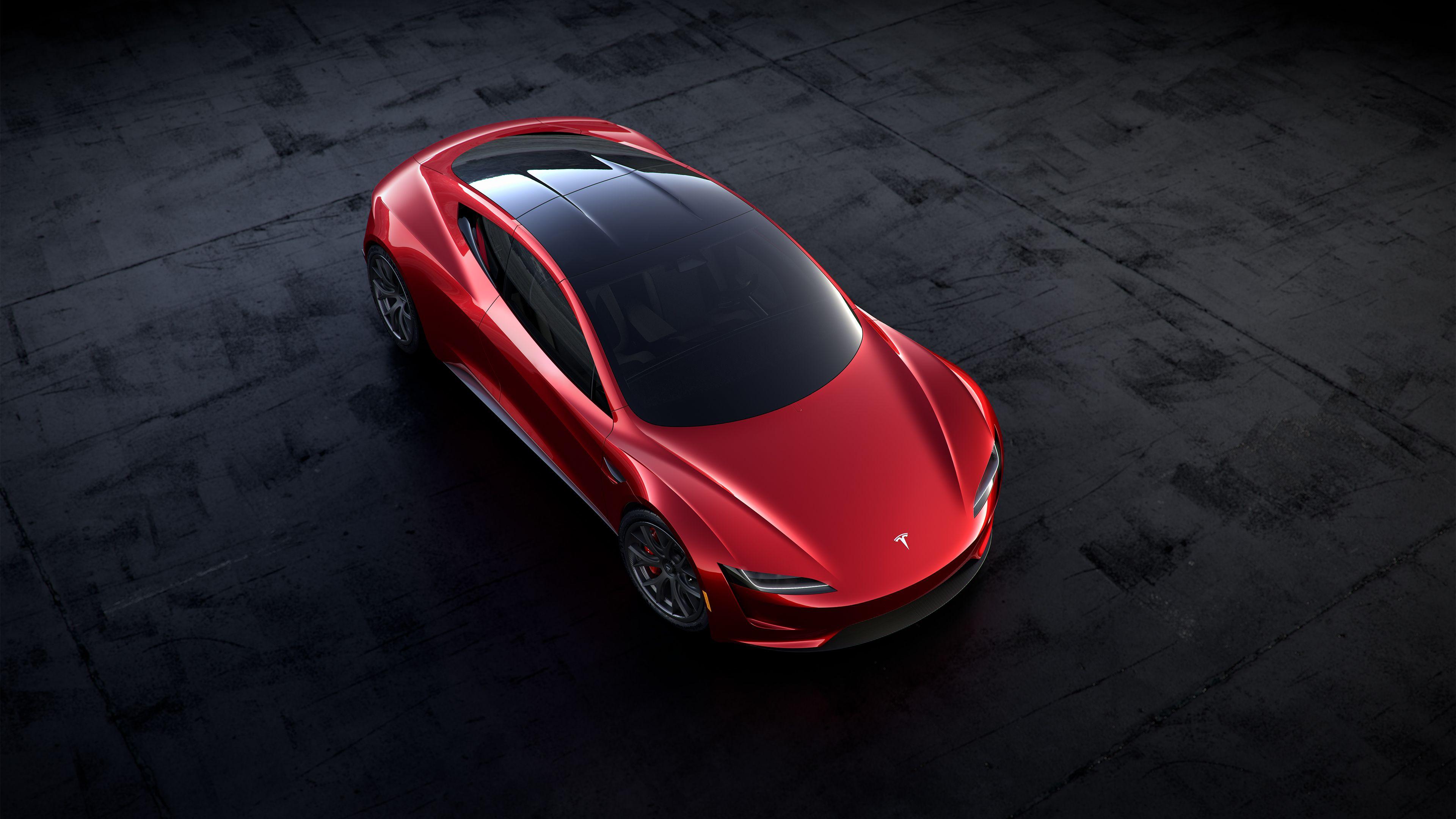 Nye Tesla Roadster har avtagbart glasstak og plass til fire personer. Bilde: Tesla